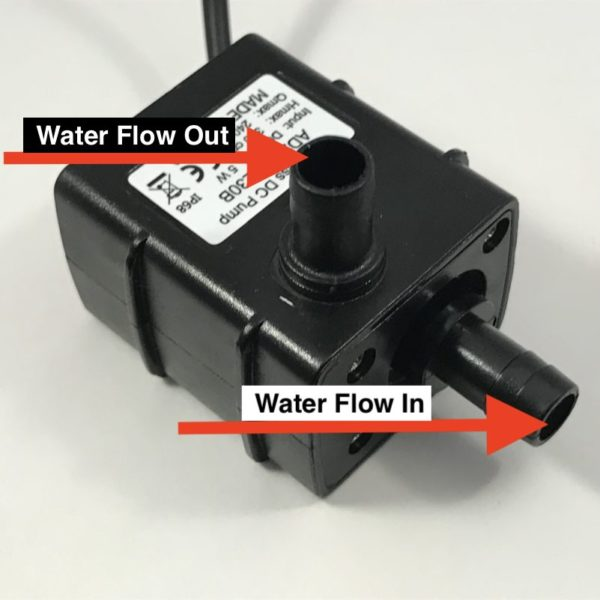 submersible pump for diy self watering pot
